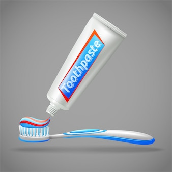 Toothbrush and toothpaste design icons