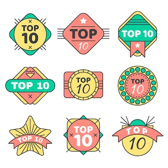 Top 10 badges collection