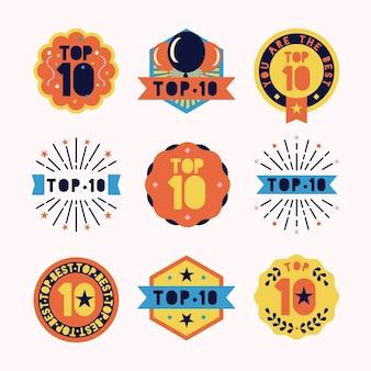 トップ10バッジコレクション