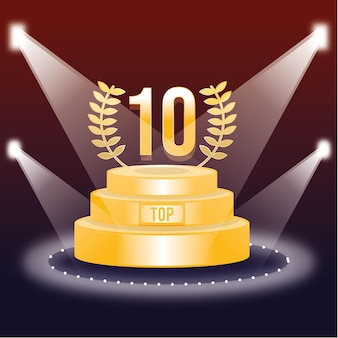 Top 10 best podium award