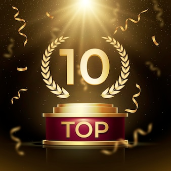 Top 10 best podium award