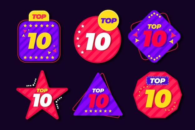 Шаблон 10 лучших этикеток