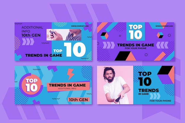 Top 10 rating banner web template