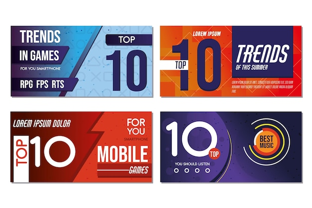 Top 10 rating banners template