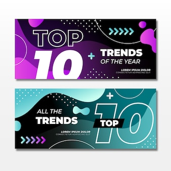 Top 10 rating banners
