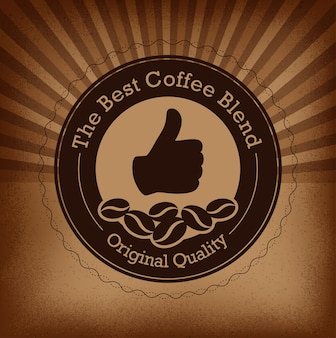 Top brand coffee label