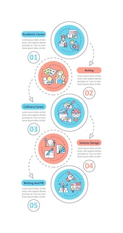 Top careers for creative thinkers  infographic template. culinary career presentation  elements.