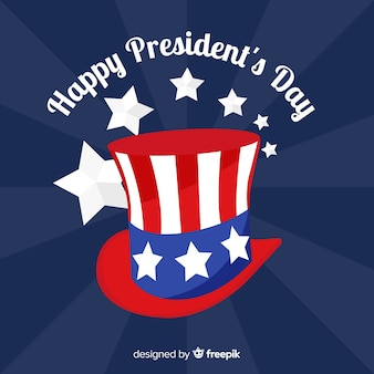 Top hat president day background