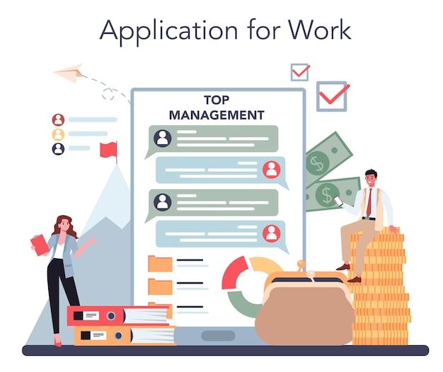Top management online service or platform