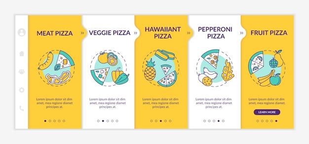 인기 피자 유형 온 보딩 템플릿