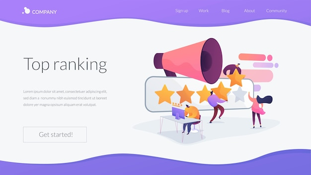Top ranking landing page template