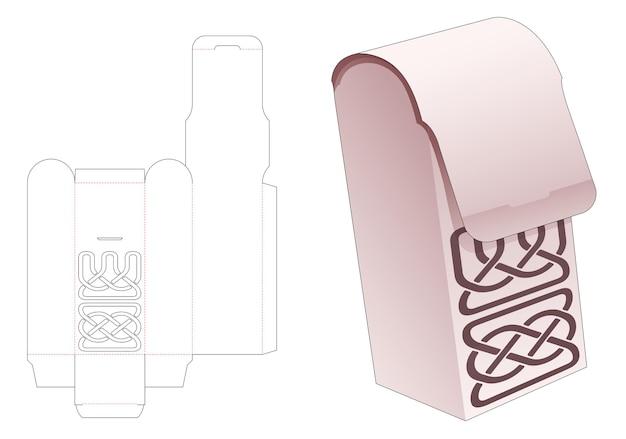 곡선 스텐실 다이 컷 템플릿이있는 상단 라운드 플립 박스