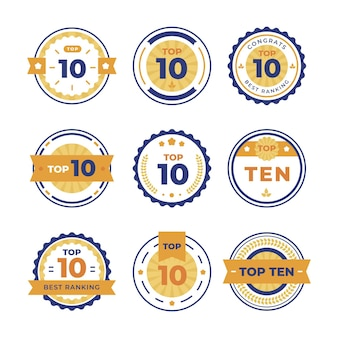 Top ten badges collection