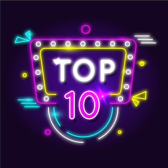 Top ten concept in luci al neon