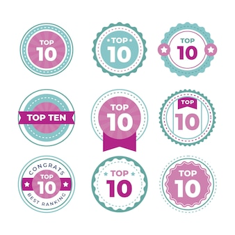 Top ten labels collection