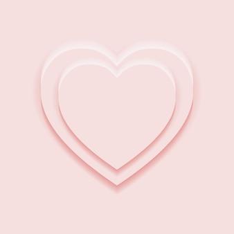 Вид сверху 2 подиума в форме сердца