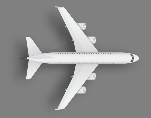 Top view airplane