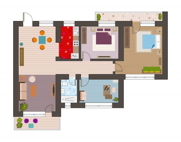 Top view of architecture plan
