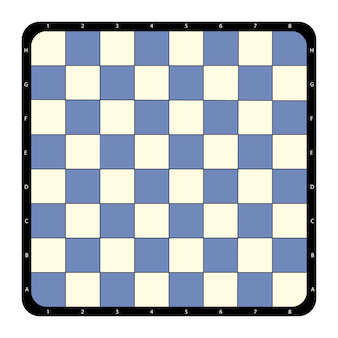 Top view flat chessboard