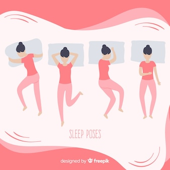 Top view flat sleeping poses collection