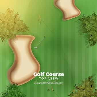 Top view of golf couse