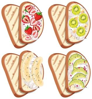 Вид сверху на хлеб с фруктовой начинкой