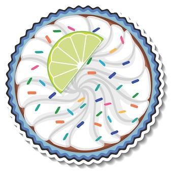 ホイップクリームとカップケーキの上面図