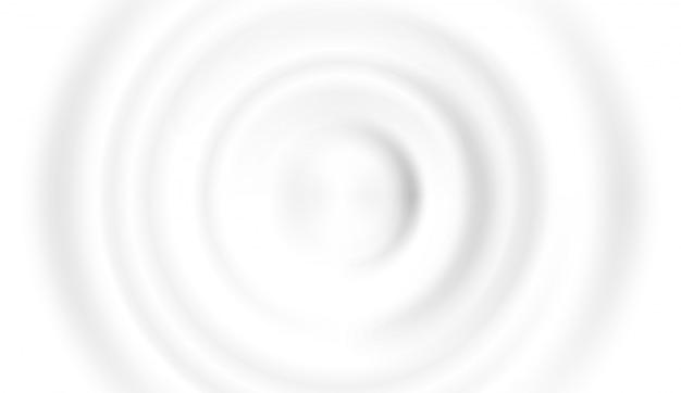 우유 방울의 상위 뷰
