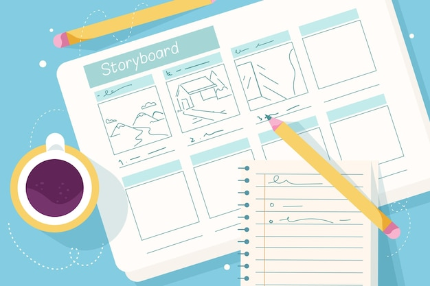 Top view storyboard concept