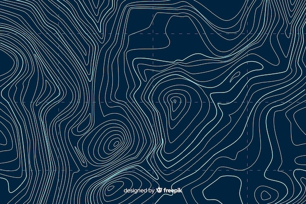 Top view topographic lines background