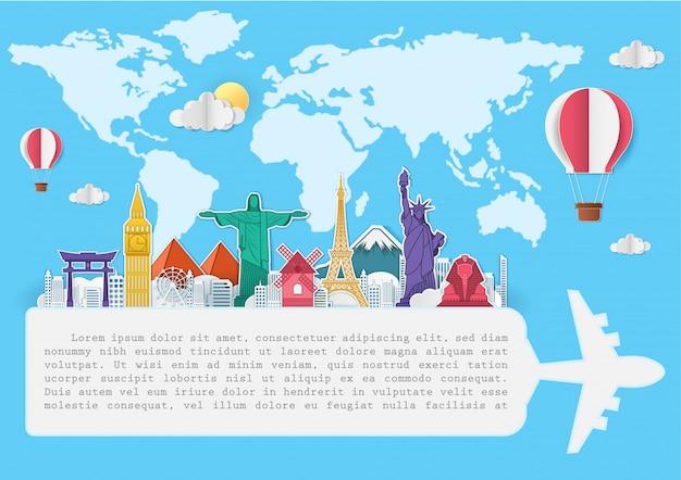 Top world famous landmark travel around the world.