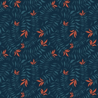 Topical  leaves on seamless pattern for fabric texture