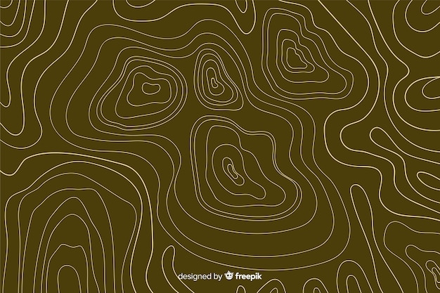 Topographic brown lines background