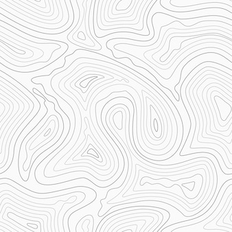 Topographic contour lines map seamless pattern.