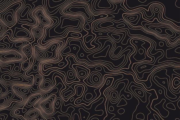 Топографическая линейная карта, контур, рельеф, топографический и текстурированный фон, географический