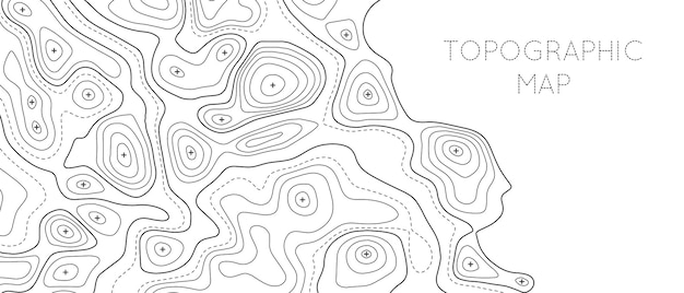 Topographic line map pattern. contour elevation topographic and textured background of geographic grid for hiking and mountain sport. vector illustration