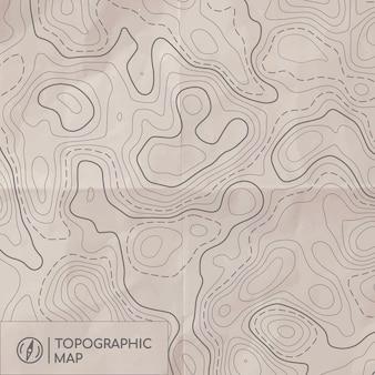 Topographic line map.