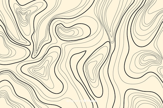 Topographic lines background on salmon colour shades
