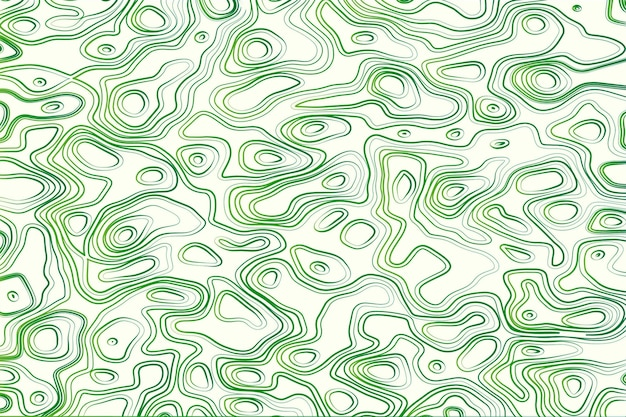 Topographic map background in green and white