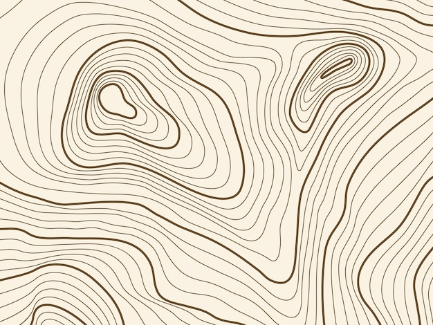 Topographic map background of mountain terrain. vector mapping contour texture with elevation