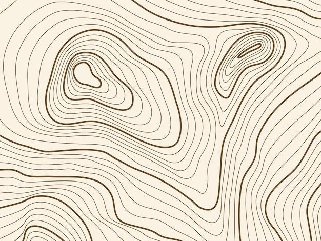 Топографическая карта фон горной местности. векторное отображение текстуры контура с высотой