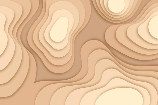 Topographic map background with layes of dunes