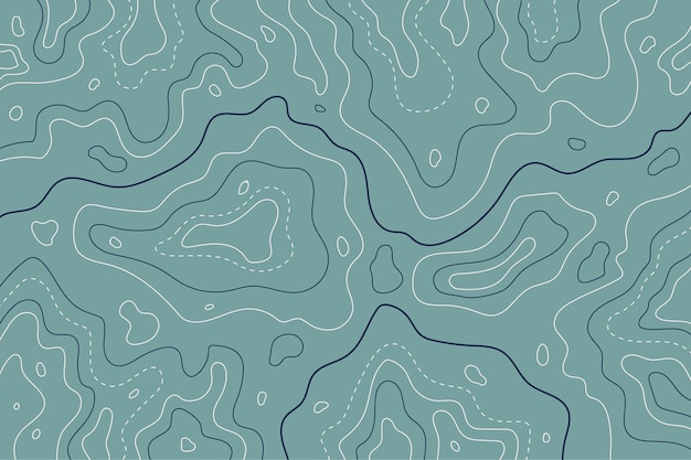 Topographic map contour lines blue tones