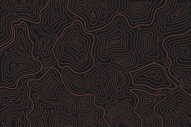 Topographic map contour lines dark tones