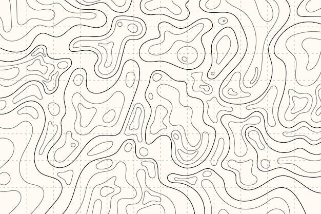 Topographic map contour outlines