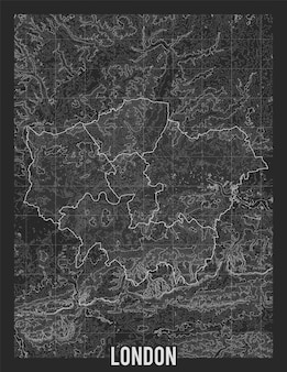 Topographic map of london