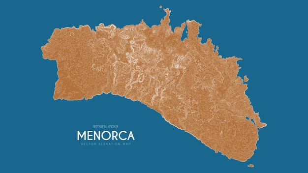 메노르카 섬, 발레아레스 제도, 스페인의 지형도