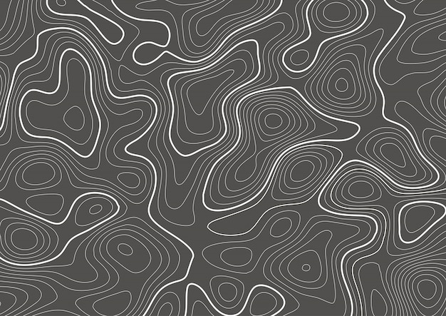 Topography contour map design