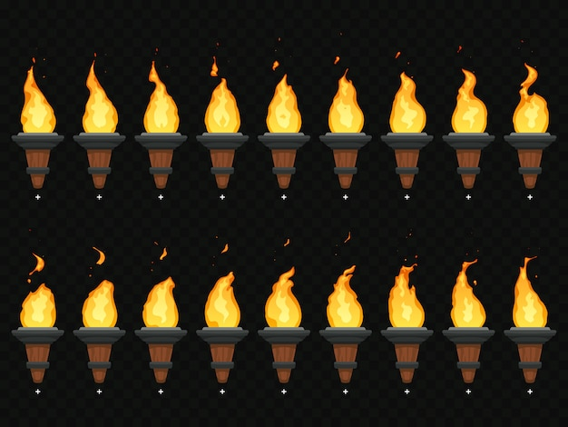 Torch fire animation