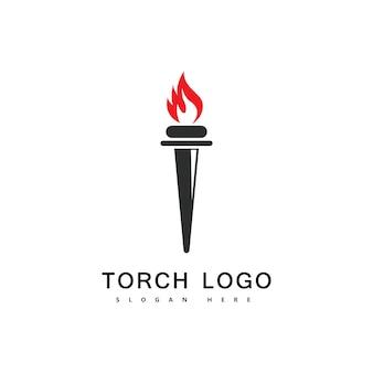 토치 화재 로고 벡터 아이콘